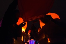 Wensballonnen oplaten bij het gala