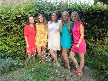 Lichting september 2013: Frederieke, Eva, Charlotte, Ziva, Roos